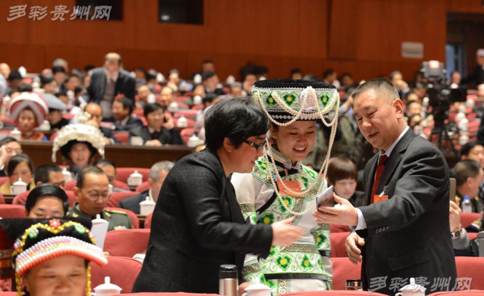 贵州省十二届人大四次会议 少数民族代表盛装参会
