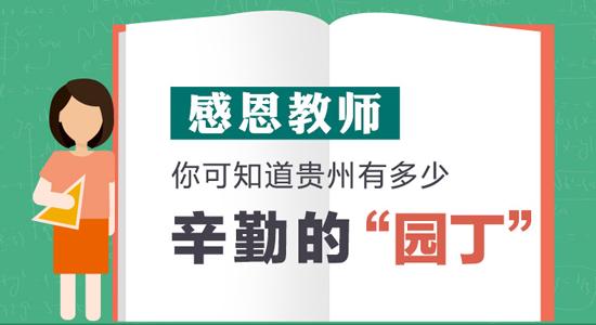 【图解】快来看!你知道贵州有多少教师吗?