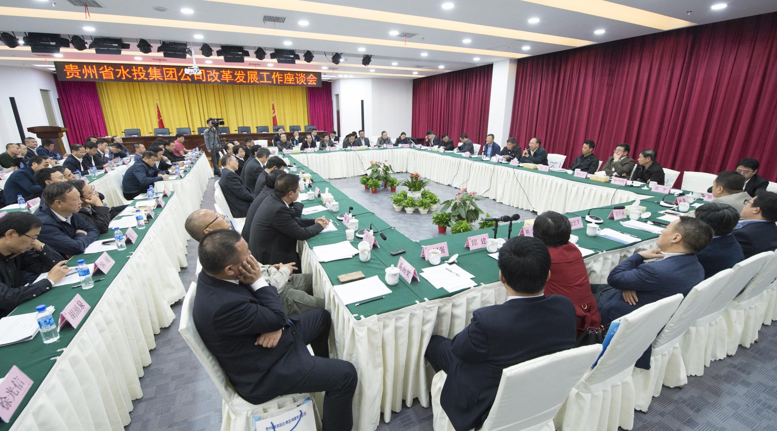 贵州水投集团公司召开改革发展工作座谈会