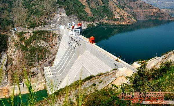 位于晴隆县与关岭县交界北盘江上的光照电站